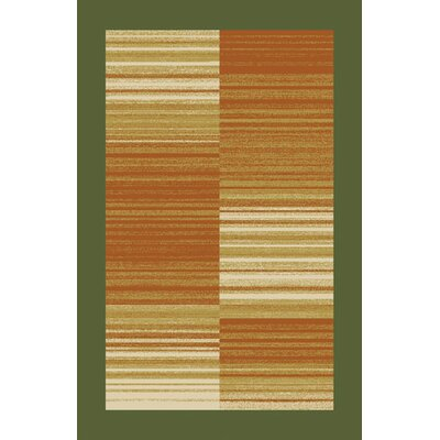 Bien Green/Brown Area Rug Rug Size: 53 x 72