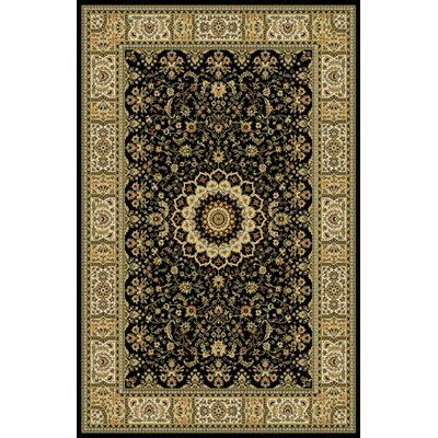 Woodrick Black Area Rug Rug Size: 53 x 72