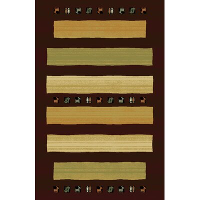 Germantown Brown Area Rug Rug Size: 53 x 72