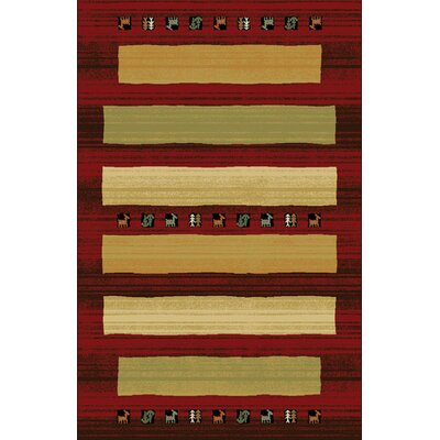 Germencik Red/Brown Area Rug Rug Size: 711 x 910