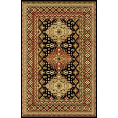 Gillett Black Area Rug Rug Size: 53 x 72