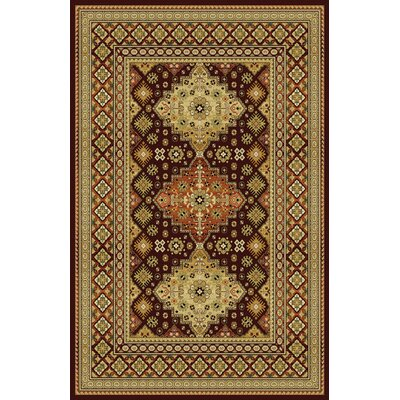 Germantown Modern Burgundy Area Rug Rug Size: 53 x 72