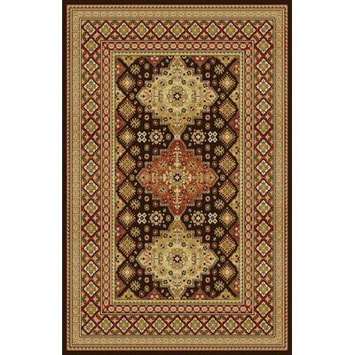 Gillmore Dark Brown Area Rug Rug Size: 711 x 910