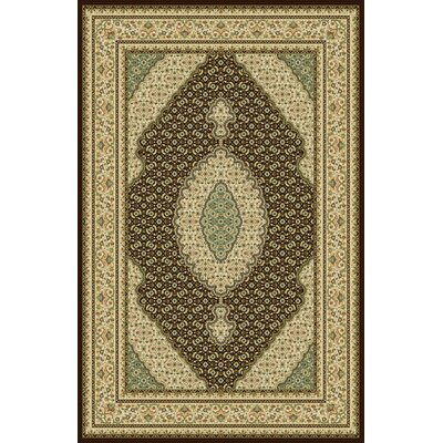 Ruffin Dark Brown Area Rug Rug Size: 10 x 13