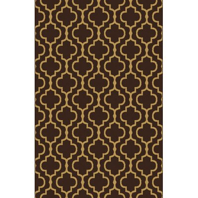 Marlowe Dark Brown Area Rug Rug Size: 53 x 72