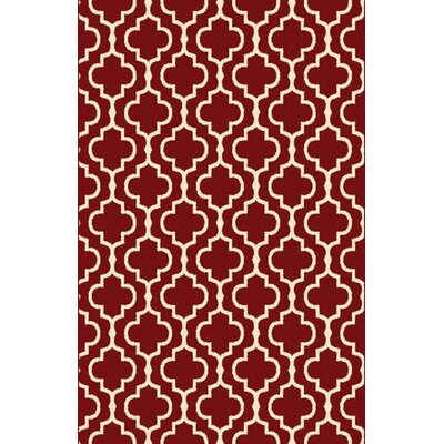 Marshallville Red Area Rug Rug Size: 711 x 910
