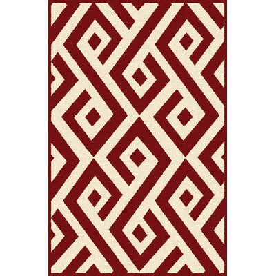 Rishi Red Area Rug Rug Size: 711 x 910