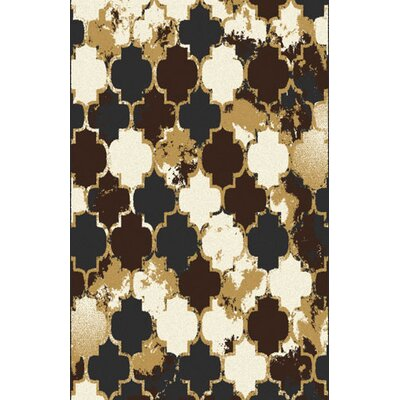 Carraton Brown Area Rug Rug Size: 53 x 72