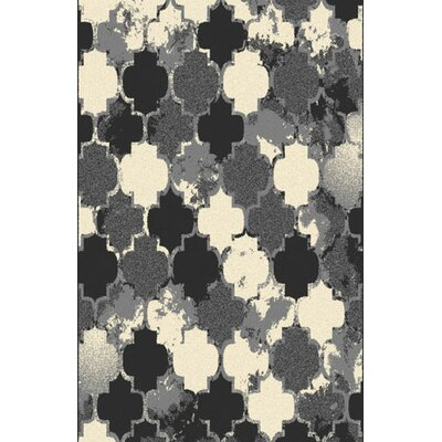 Carreras Gray/Black Area Rug Rug Size: 711 x 910