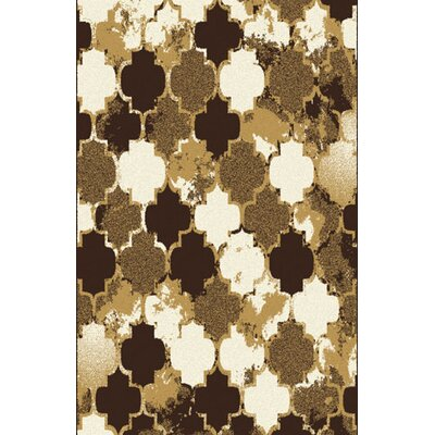 Carrow Taupe/Brown Area Rug Rug Size: 711 x 910