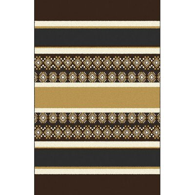 Oren Dark Brown Area Rug Rug Size: 53 x 72