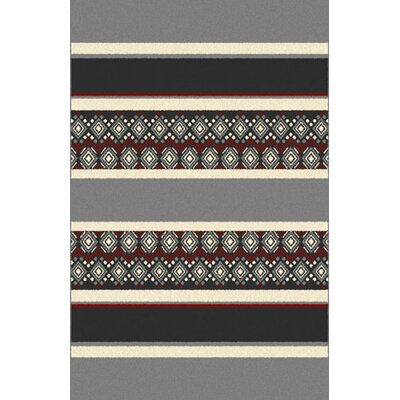 Oralie Gray Area Rug Rug Size: 53 x 72