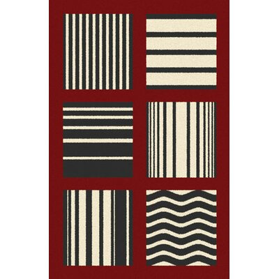 Borba Red Area Rug Rug Size: 53 x 72