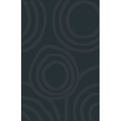 Mcgehee Contemporary Blue/Gray Area Rug Rug Size: 53 x 72