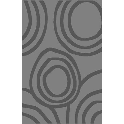 Mcginn Stain Resistant Gray Area Rug Rug Size: 53 x 72