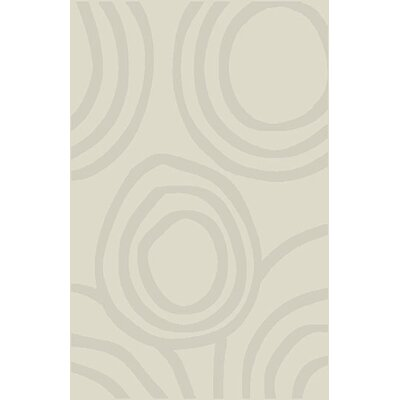 Mcgonigal Modern Ivory Area Rug Rug Size: 53 x 72