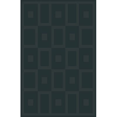 Mcgehee Stain Resistant Black Area Rug Rug Size: 53 x 72