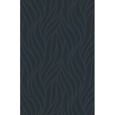 Filsinger Black Area Rug Rug Size: 53 x 72