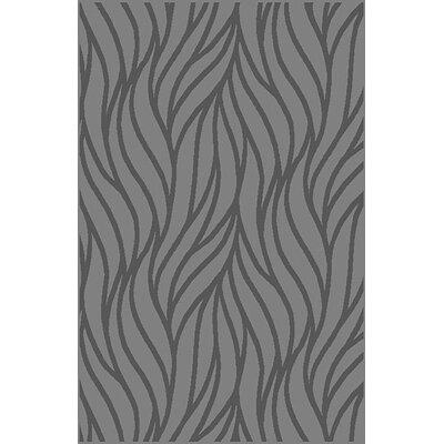 Hiebert Gray Area Rug Rug Size: 711 x 910