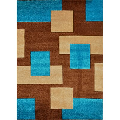 Melfa Contemporary Blue/Brown Area Rug Rug Size: Runner 27 x 146