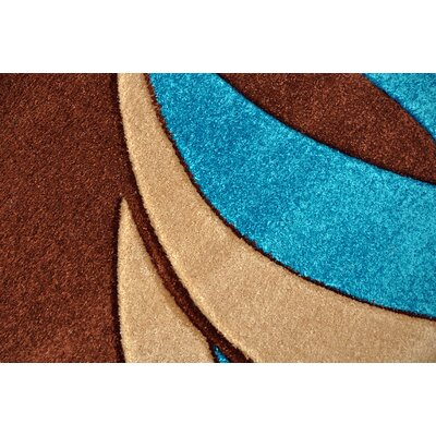 Melfa Modern Abstract Blue/Brown Area Rug Rug Size: Runner 27 x 146