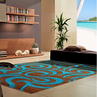 Melfa Blue/Brown Area Rug Rug Size: Runner 27 x 72