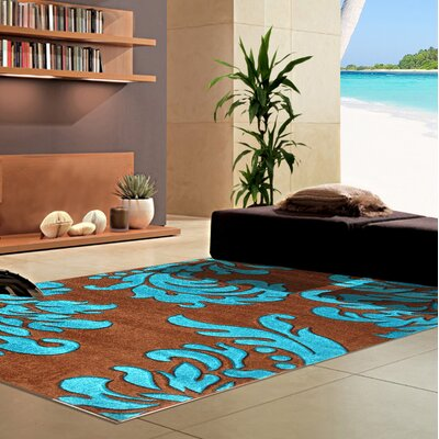 Morven Blue/Brown Area Rug Rug Size: Runner 2'7