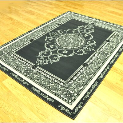 Srouder Green/Black Area Rug Rug Size: Runner 27 x 91