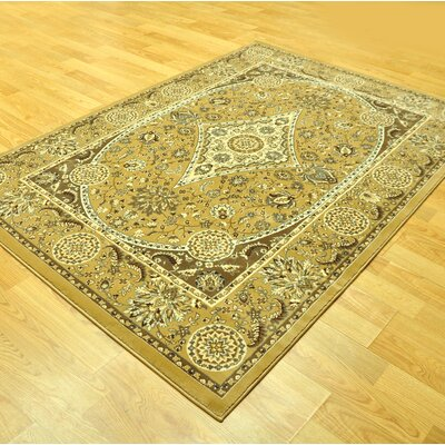 Harloe Yellow Area Rug Rug Size: Runner 27 x 91