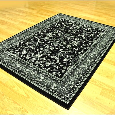 Zoel Black/Gray Area Rug Rug Size: Runner 27 x 146