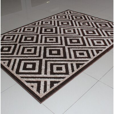Rosendahl Brown Area Rug Rug Size: 3 x 5