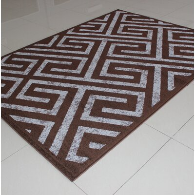 Rosamond Brown Area Rug Rug Size: 53 x 72