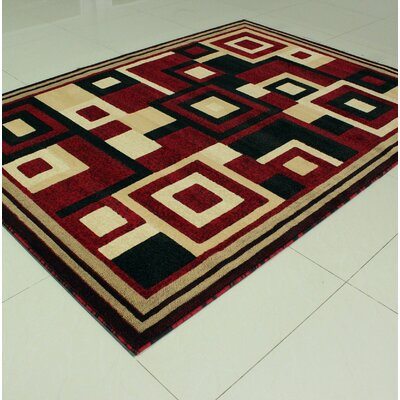 Mcfee Rectangle Red Area Rug