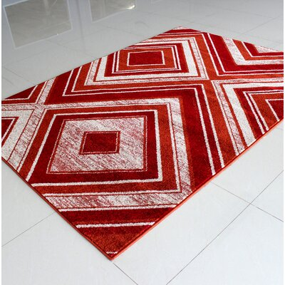 Rosenthal Modern Red Area Rug Rug Size: 3 x 5