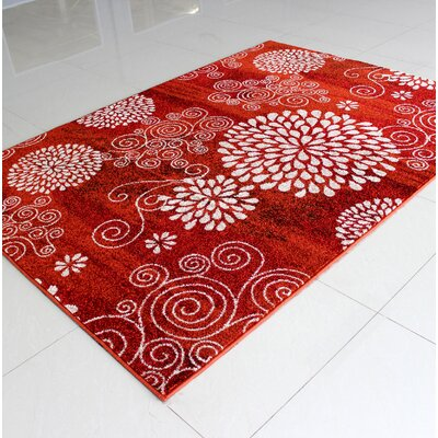 Carpentersville Red Area Rug Rug Size: 3 x 5