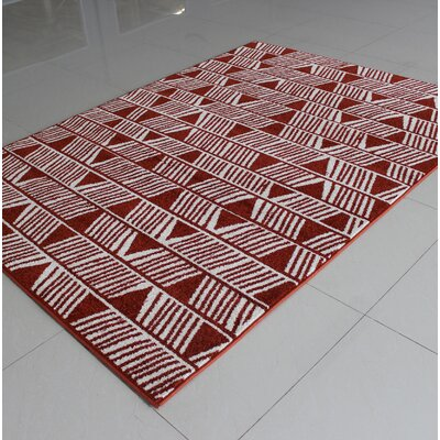 Rosenthal Brown/White Area Rug Rug Size: 4 x 6