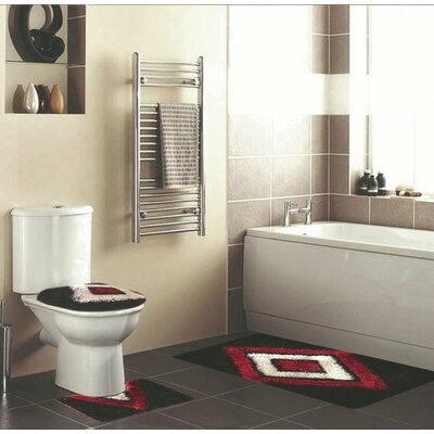 Hollenbeck 3 Piece Bath Rug Set