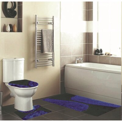 Holler 3 Piece Bath Rug Set