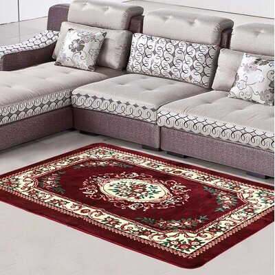 Cullerton Burgundy/Cream Area Rug