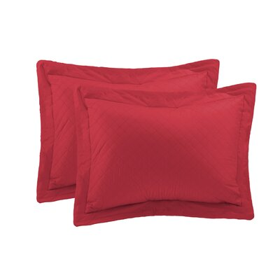 Basics Sham Size: King, Color: Scarlet