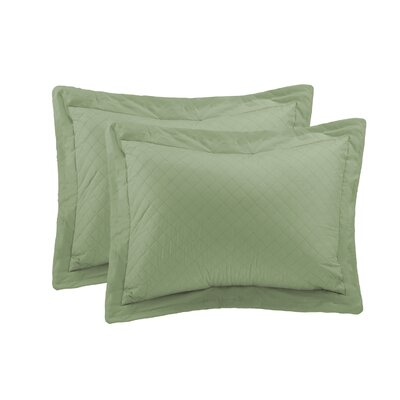 Basics Sham Size: King, Color: Sage