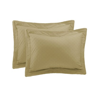 Basics Sham Size: Standard, Color: Wheat