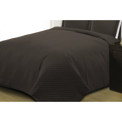 Basics Quilt Size: Full/Queen, Color: Black