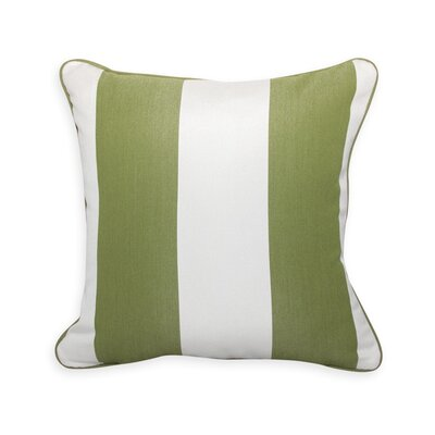 Colin Cilantro Stripe Outdoor Sunbrella Throw Pillow
