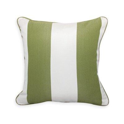 Colin Cilantro Stripe Outdoor Sunbrella Throw Pillow