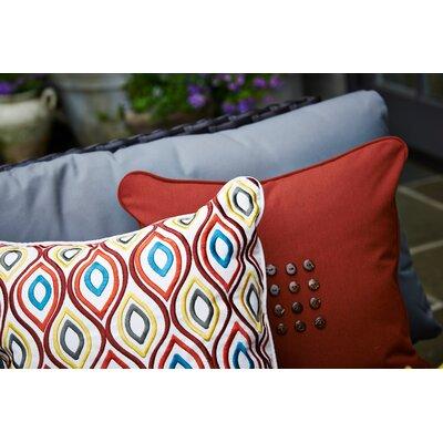 Sixteen Button Throw Pillow Color: Henna