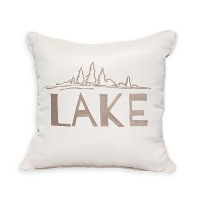 Lake Embroidery Indoor/Outdoor Throw Pillow