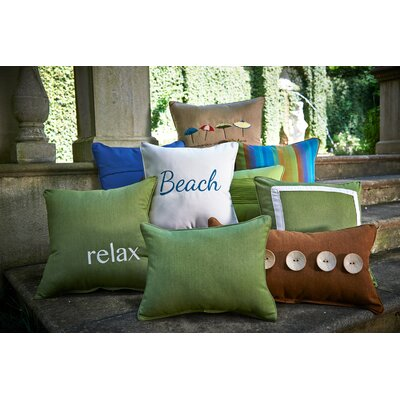 Astoria Indoor/Outdoor Throw Pillow Color: Lagoon