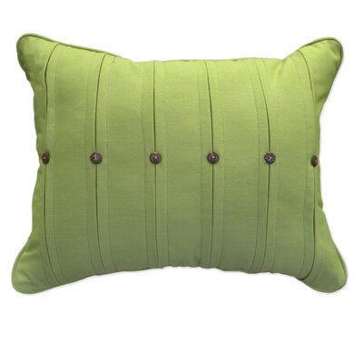 Button Lumbar Pillow Color: Spectrum Kiwi