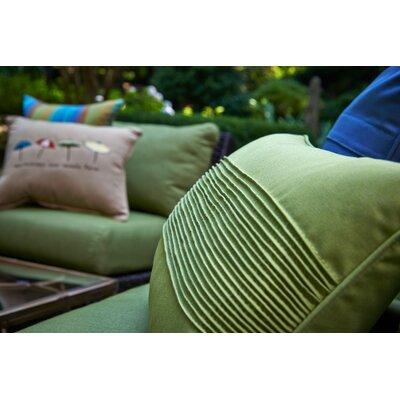 Pintuck Lumbar Pillow Color: Canvas Ginkgo